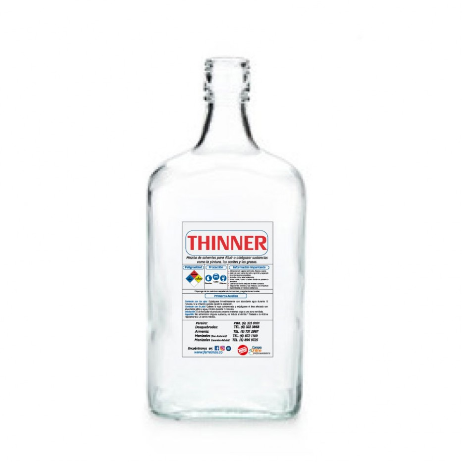 Thinner corriente botella