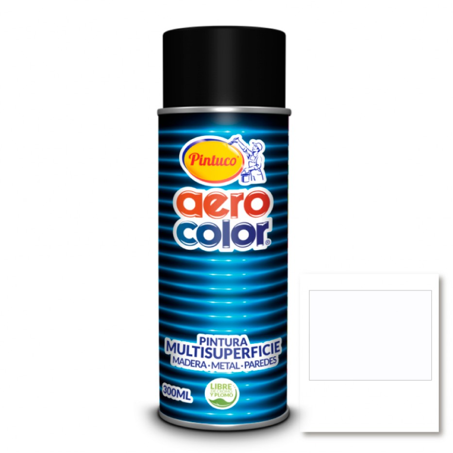 Aerocolor Laca Blanco semi brillante 300 ml