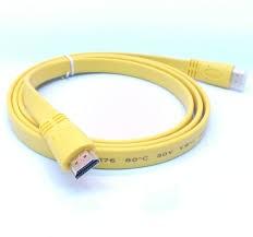 HDMI 1.8 M plano (amarillo)
