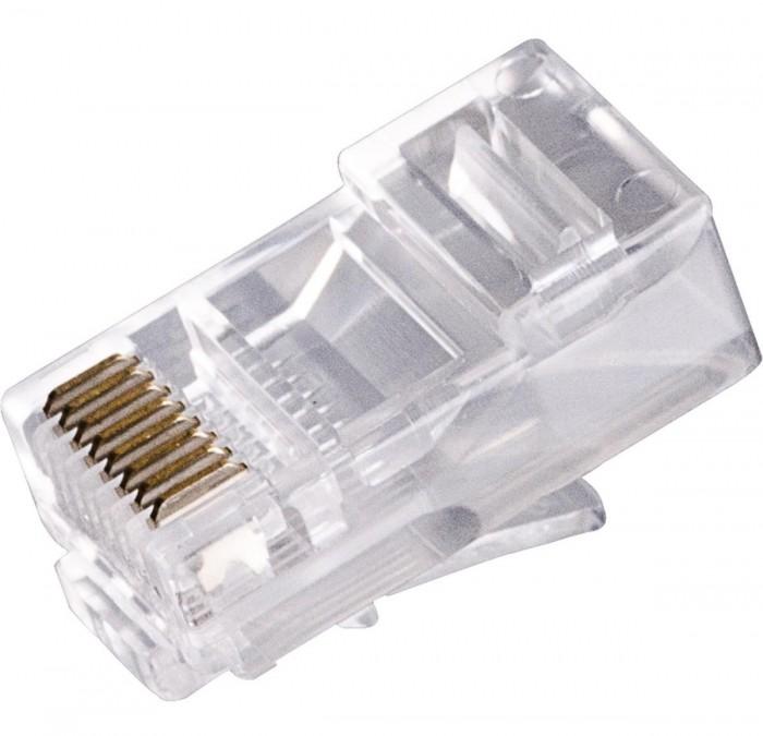 RJ45 cat5 plástico genérico 100 unds