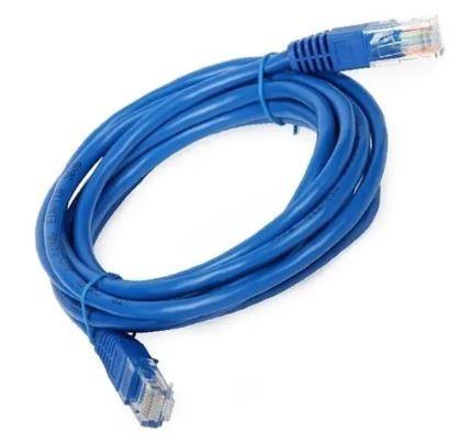 Patch cord certificado categoria 6 azul (5m)