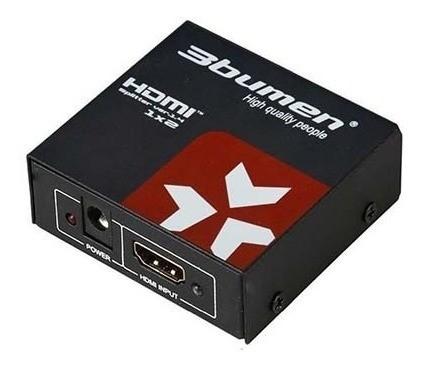 Splitter 2 puertos HDMI 3bumen