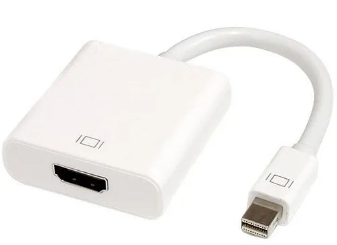 Mini display port a HDMI blanco