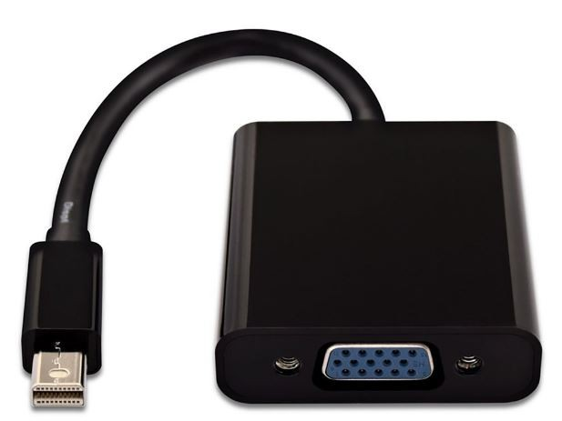 Mini display port a VGA (negro)