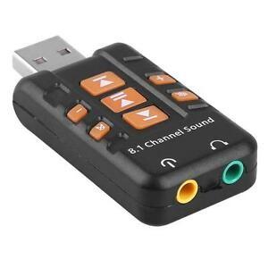 Tarjeta de sonido USB 8.1
