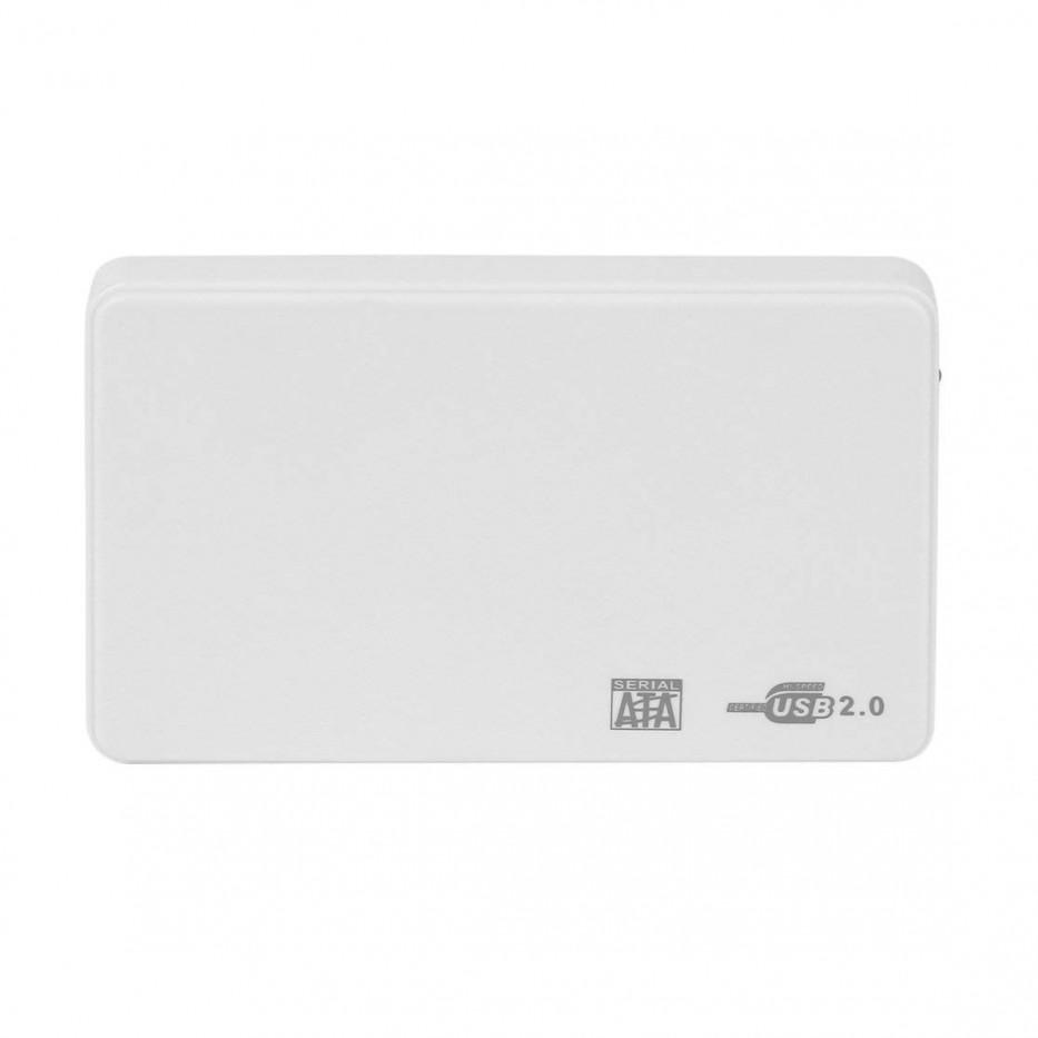 Caja para disco duro ultradelgada 2.5 USB 2.0 ( plateada))