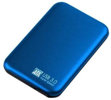 Caja para disco duro 2.5 USB 3.0 (tipo samsung) (azul)