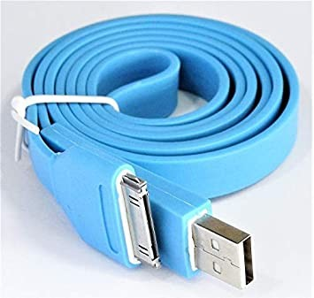 Cable flat IPhone 4/4S 20CM (blue) (paquete x 10 UND)