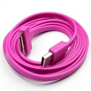 Cable flat IPhone 4/4S 20CM (bringth pink) (paquete x 10 UND)