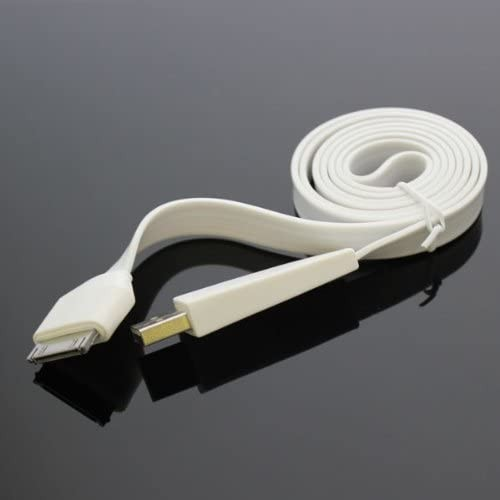 Cable flat IPhone 4/4S 20CM (white) (paquete x 10 UND)