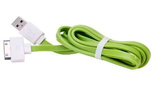 Cable flat IPhone 4/4S 20CM ( green ) (paquete x 10 UND)