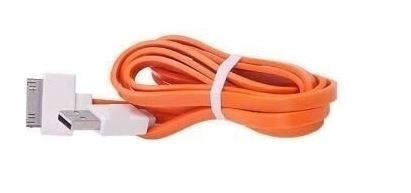Cable flat IPhone 4/4S 20CM (orange) (paquete x 10 UND)