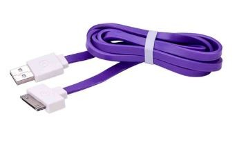 Cable flat IPhone 4/4S 20CM (purple) x 1