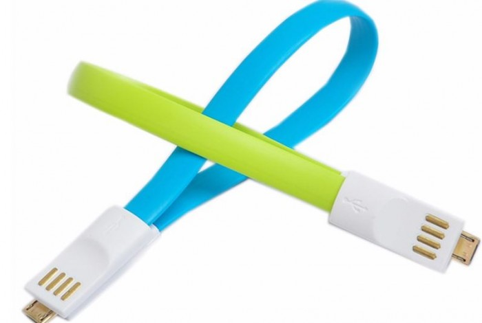 Cable flat iPhone 5/6 20CM (green) (paquete x 10)