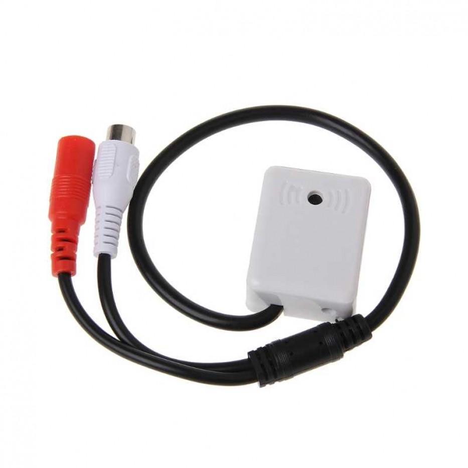 Micrófono CCTV Hikvision alta fidelidad (alcance 100mt cámara)