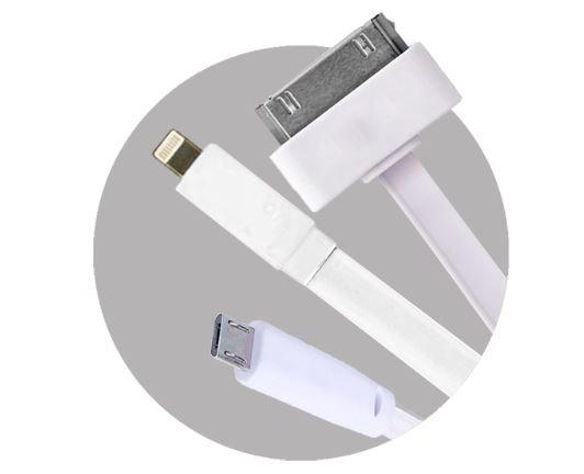 Cable flat todo en uno 60 CM (paquete x 10)