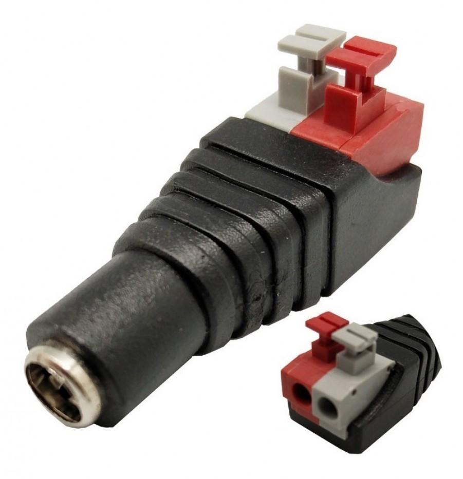 Conector DC hembra presión(paquete x 100 und)