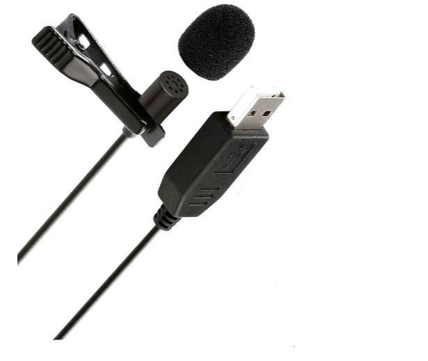 Micrófono de solapa USB para PC-Macbook portátil