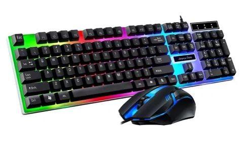 Combo gamer teclado + mouse iluminado
