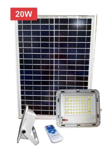 Kit solar programable reflector 60W lámpara+ panel 20w
