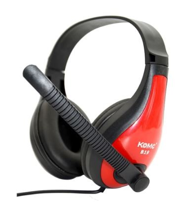Microfono diadema gamer B19 (rojo)