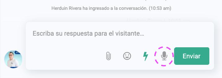 Grabar notas de voz para WhatsApp en LiveConnect