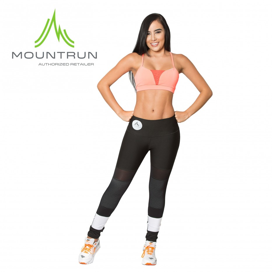 Mountrun Women's Workout Compression Pants (B&W)