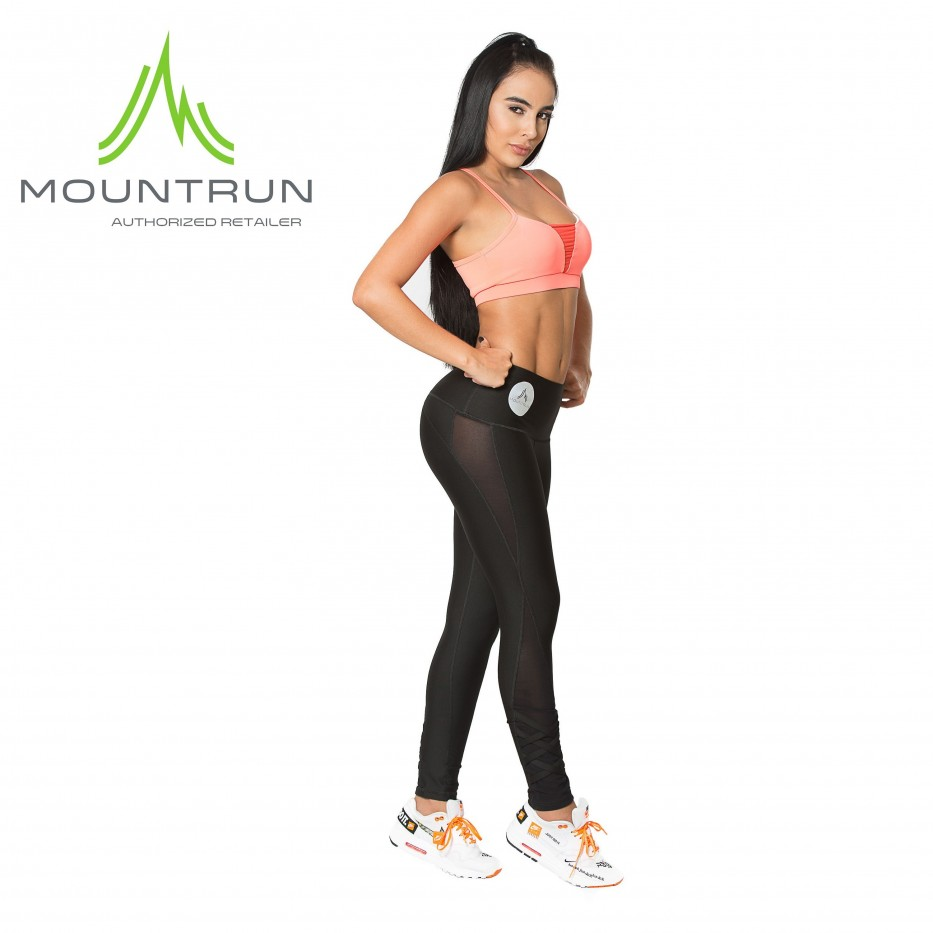 Mountrun Women's Workout Compression Pants (Criss Cross)