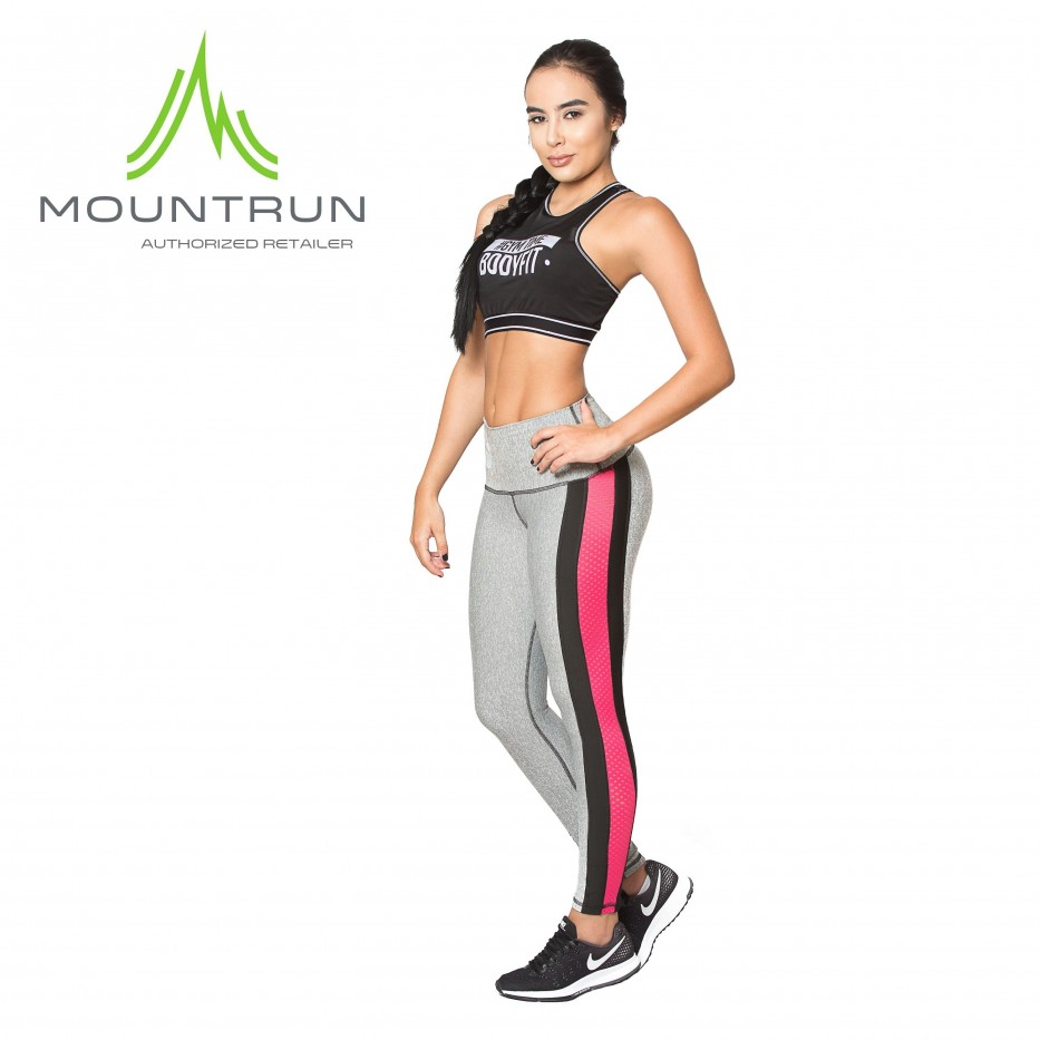 Mountrun Women's Workout Compression Pants (Heather)
