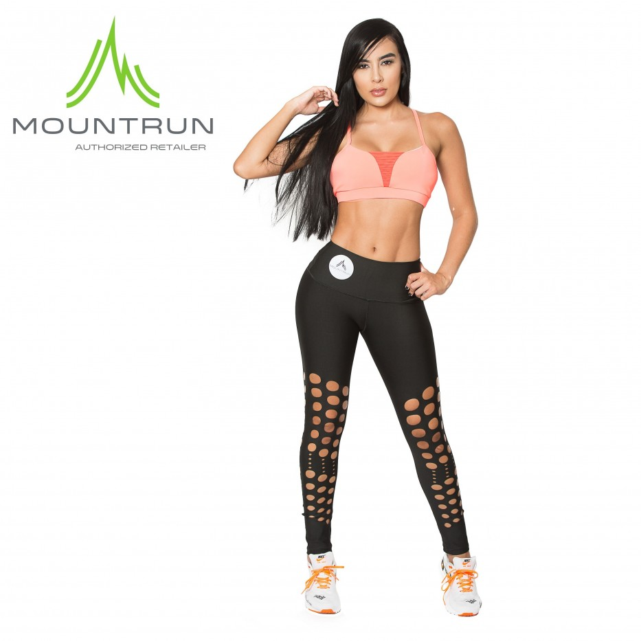 Mountrun Women's Workout Compression Pants (Laser)