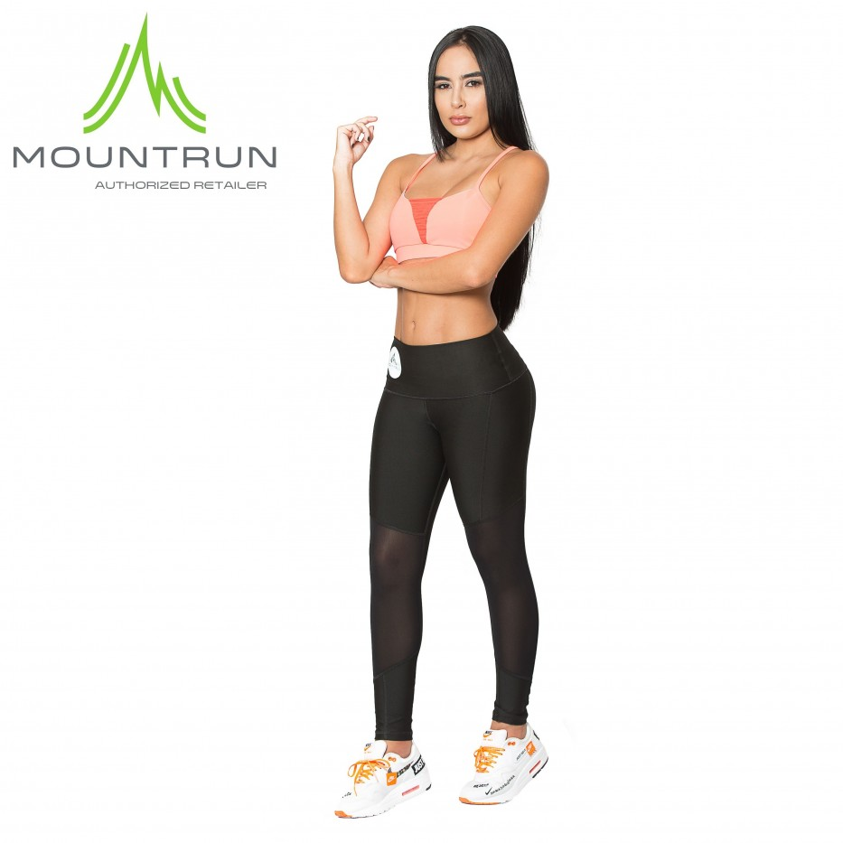 Mountrun Women's Workout Compression Pants (Mesh)