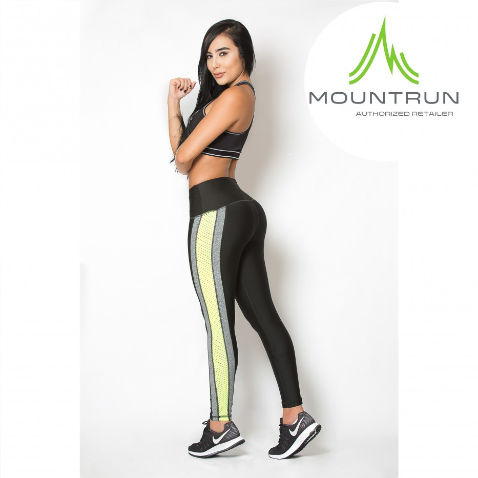 Mountrun Women's Workout Compression Pants (Neon)