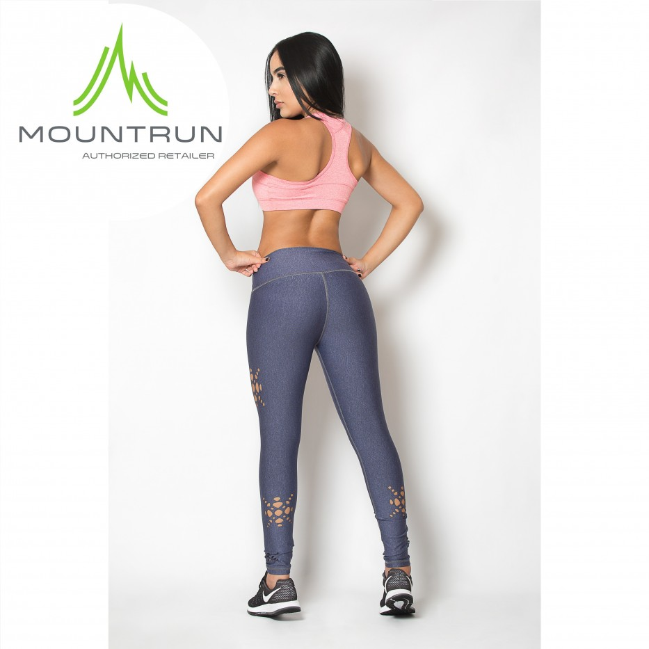 Mountrun Women's Workout Compression Pants (Star Cut)