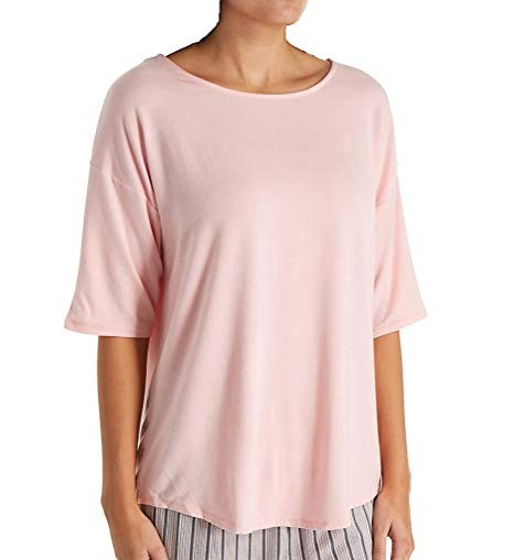 DKNY Open-Back Jersey Pajama Top S