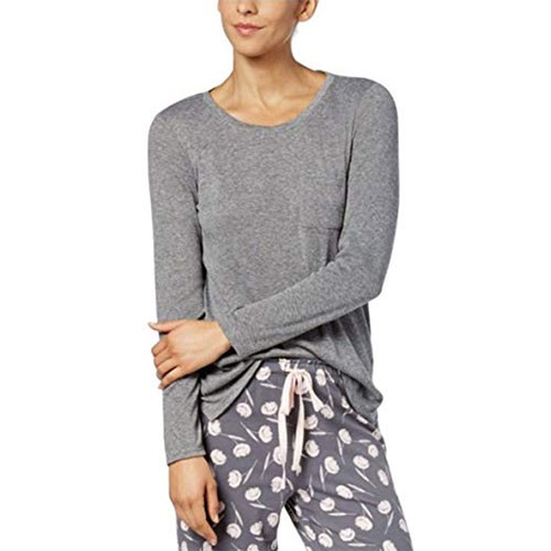 Alfani Scoop-Neck Pajama Top Grey XXL