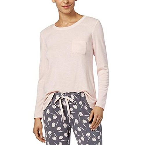 Alfani Scoop-Neck Pajama Top Soft Shell XXXL