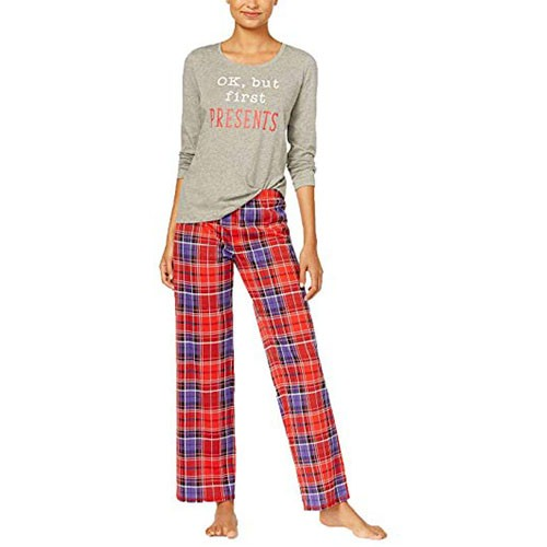 Jennifer Moore 2 Piece Fleece Pajama Set L