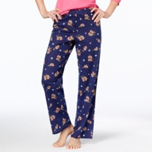 Jennifer Moore Printed Cotton Pajama Pants M