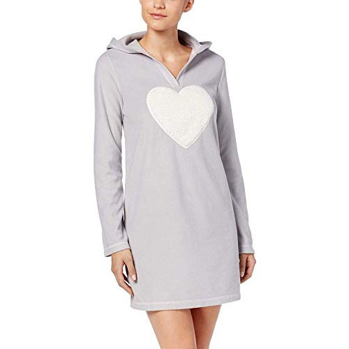 Jennifer Moore Hooded Fleece Sleepshirt XS