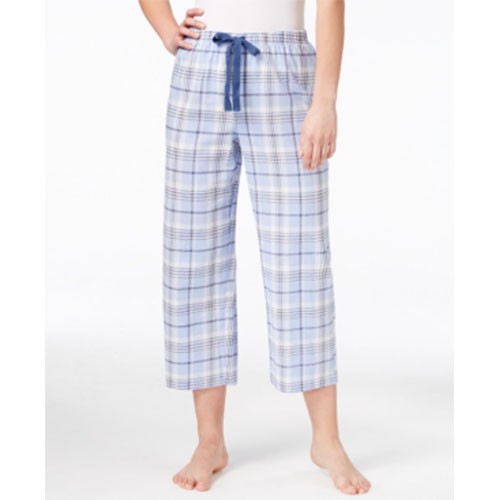 Charter Club Printed Cropped Pajama Pants XS