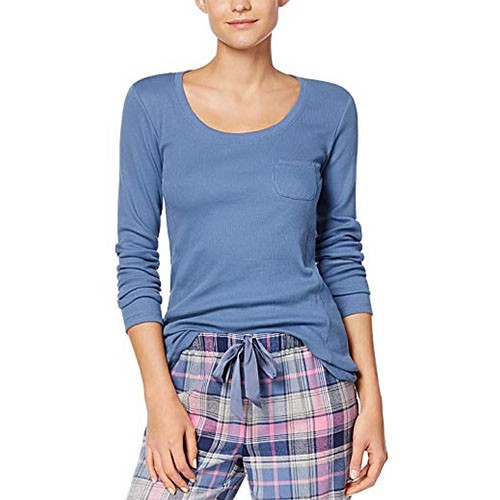 Jennifer Moore Ribbed Pajama Top L