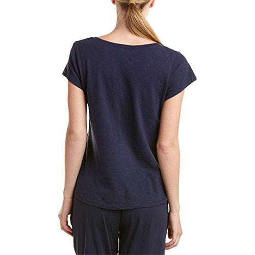 Lucky Brand Embroidered Short Sleeve Pajama Top M