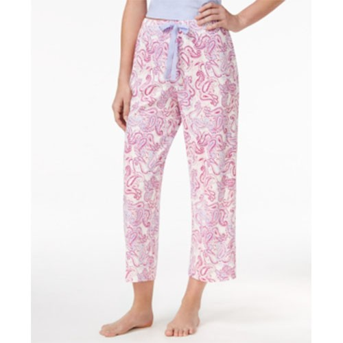 Charter Club Printed Cropped Long Pajama Bottoms XXXL