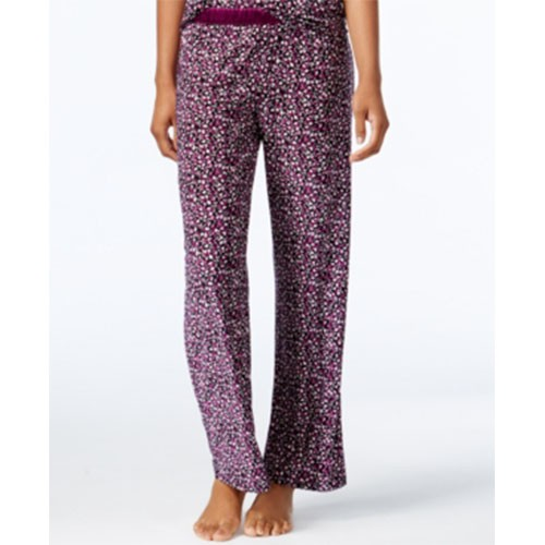Alfani Printed Elastic Long Pajama Bottoms XXXL