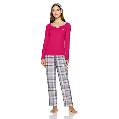 Nautica Knit Top with Flannel Pant Pajama Set XXL
