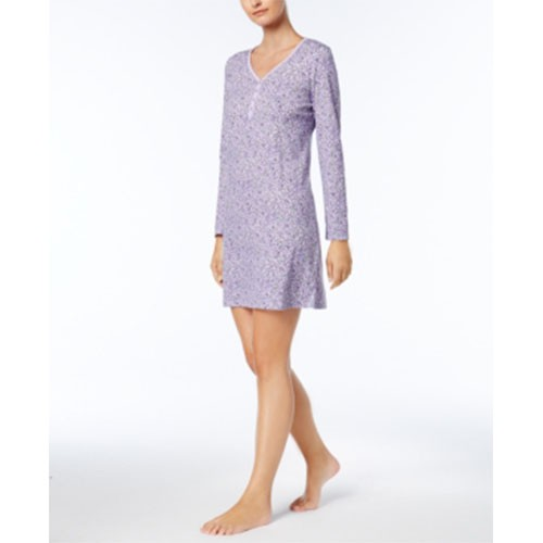 Charter Club Printed Cotton Knit Sleepshirt XXXL