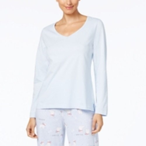 Charter Club Graphic Pajama Top S