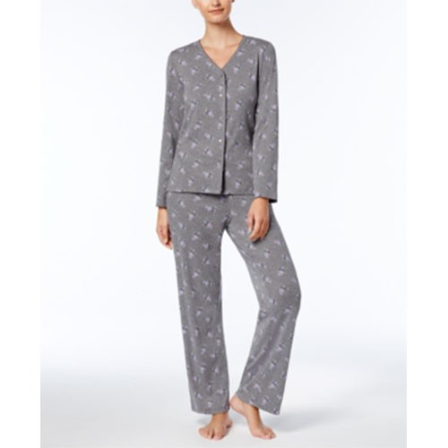 Charter Club Printed Cotton Pajama Set XXXL