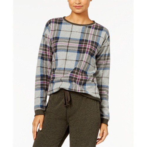 Jennifer Moore Plaid Fleece Pajama Top XS