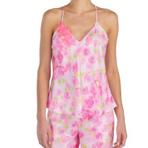 Betsey Johnson Dreamy Roses Washed Satin Cami S